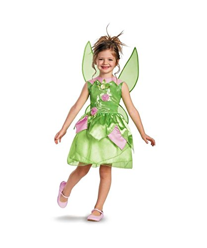Tinker Bell Classic Girls Costume Rainbow Costume(S Child Size 4-6)