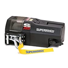 Superwinch 1430200 S3000, 12 VDC winch, 3,000lb/1360 kg single line pull with roller fairlead & 30' remote