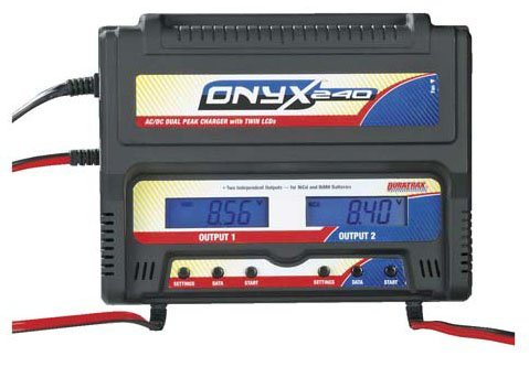 DuraTrax DTXP4240 Onyx 240 AC/DC Dual Charger w/LCD