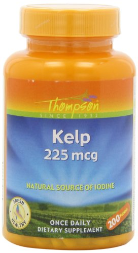 Thompson Kelp Tablets, 225 Mcg, 200 Count (Pack Of 2)