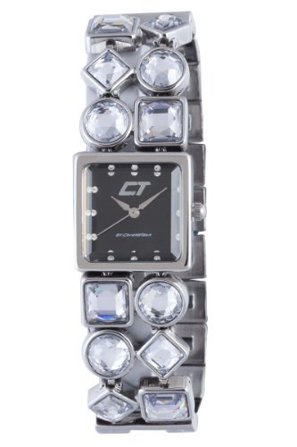 Chronotech Woman's Brown Mother of Pearl Dial Stainless Steel and Crystal Watch