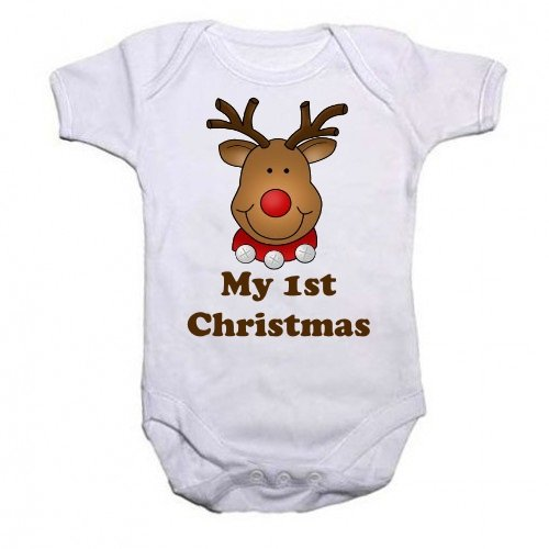 A-Christmas-Unisex-Baby-Grow-With-the-picture-of-a-Cute-Reindeer-With-the-wording-My-1st-Christmas-from-our-Baby-Clothing-range-A-unique-Birthday-Christening-or-Christmas-stocking-filler-gift-idea-for