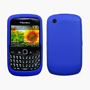 Blue Silicone Case / Skin / Cover for RIM BlackBerry Curve 8520 / 8530