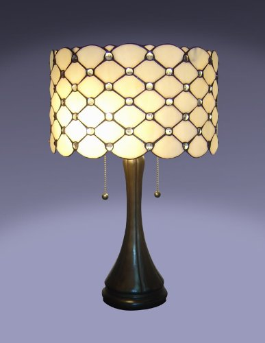 tiffany style jeweled table lamp feature beautiful tiffany style table. Black Bedroom Furniture Sets. Home Design Ideas