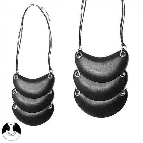 sg paris women necklace necklace42cm wo0d black wood