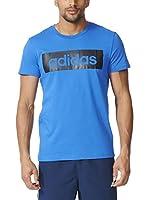 adidas Camiseta Manga Corta Lin Tee (Azul)