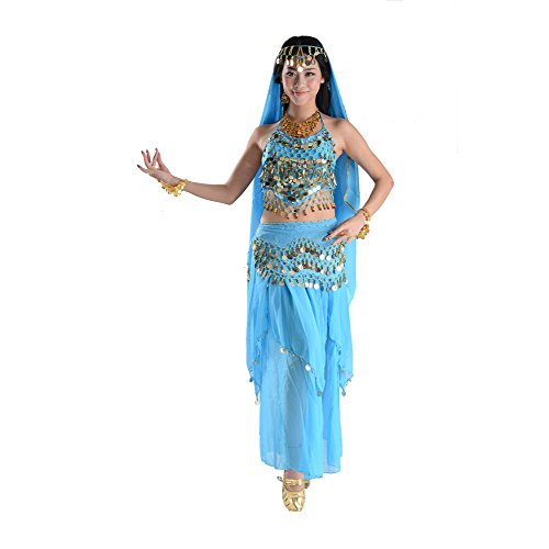 STIME TM Women One Size Dance Suit, Belly Dance Coin Pendant Costumes Dress