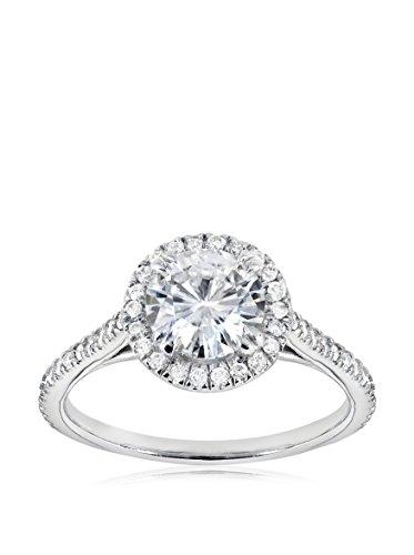 Kobelli 14K White Gold Moissanite & Diamond Engagement Ring