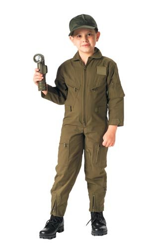 KIDS OD MILITARY JUMP SUIT COSTUME