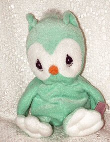 Precious Moments Tender Tails Green Owl
