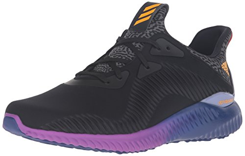 adidas Performance Men's Alphabounce M Running Shoe, Black/Solar Gold/Shock Purple, 10 M US
