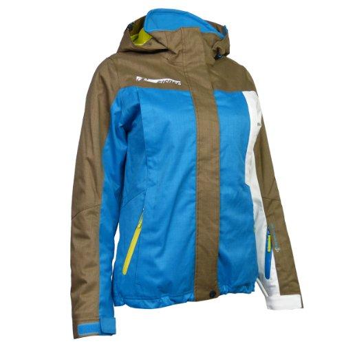 Original Ziener Skaje Freeride - Ski- Jacke Damen blau/beige/weiss/gelb, Größe:36