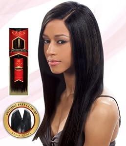 """SAGA 100% REMY HUMAN HAIR INVISIBLE PART CLOSURE 12"""" (27)"""