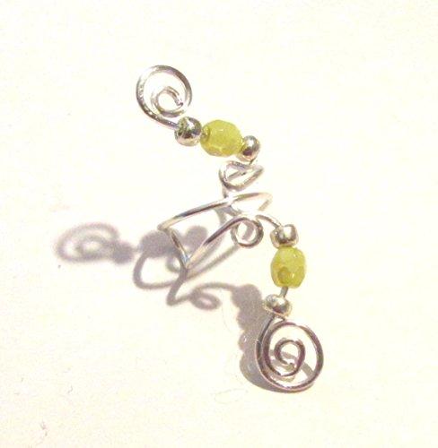 Handmade Mint Opal-Glass Ear Cuff