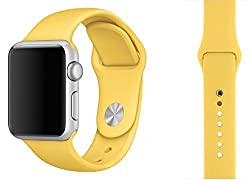 ProElite 42 mm Silicon Wrist Band Strap for Apple Watch - Yellow [*Watch NOT included*]