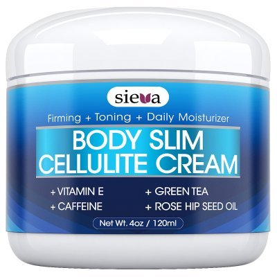 Cellulite Cream With Caffeine & Retinol - Best Anti Cellulite Triple Action Treatment for Body Firming, Tightening, & Toning - Erase Dimples from Arms, Legs, Buttocks & Stomach - 4 oz - By Sieva Skincare