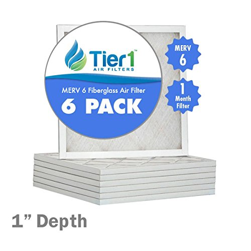 16x21x1 Basic MERV 6 Air Filter / Furnace Filter Replacement (16 1 2 X 21 1 2 X 1 Air Filter compare prices)
