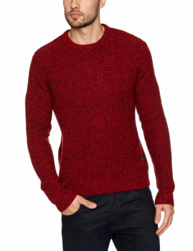 WRANGLER Crew Knit Men's Jumper Chinese Red Large