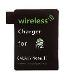 Kyasi Qi Enabled Power To Go Ultra Thin Wireless Qi Receiver for Samsung Galaxy Note 3, Black
