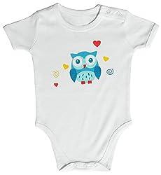 Kothari Unisex Kids' Regular Fit Romper (BBDS663_White_6-9 M, White, 6-12 Months)