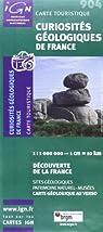 Carte touristique : curiosités géologique de france