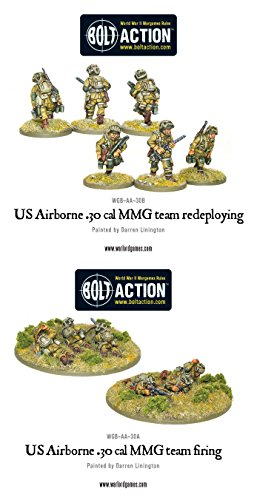 Warlord Games Bolt Action World War 2 Us Airborne 30 Cal Teams Army Infantry - 1