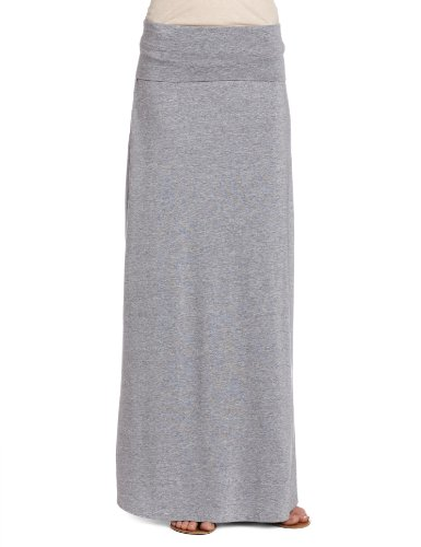 Splendid Women's Modal Lycra Long Maxi Skirt, Heather Grey, X-Small