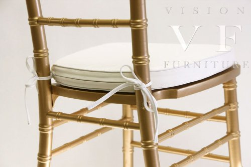 Ivory Chiavari Cushion With Ties By Vf front-606899