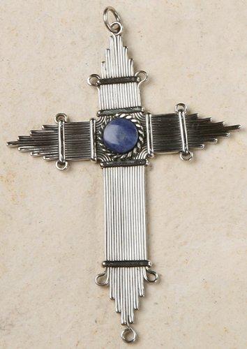 Peruvian Cross or Ornament - Sodalite