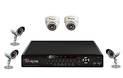Tentronix T-8CH-5-B3D29 8Channel DVR + 3 Bullet +2 Dome CCTV Cameras