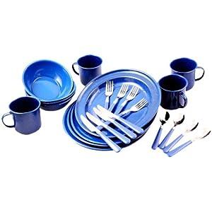 Coleman 24 Piece Enamelware Dining Kit