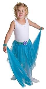Blue Turquiose Fairy Tutu with Matching Wrist Scarves 3 Piece Set