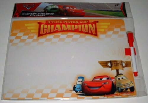 Disney Pixar Cars Lightning McQueen Champion Dry Erase Message Board