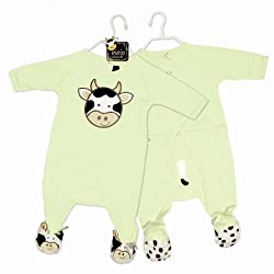 Mud Pie Baby EIEIO Cow Footed Sleeper