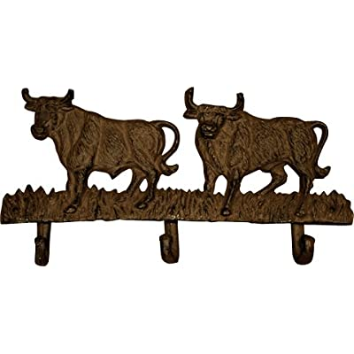 Cast Iron COW/ CATTLE Hooks ideal for Keys/ Leads