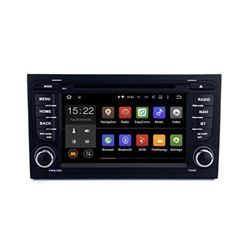 SYGAV Android 5.1.1Lollipop auto stereo CD Lettore DVD GPS di navigazione per Audi A4S4RS42002-2008con Wi-Fi, Bluetooth, radio 2DIN 7pollici 1024x 600
