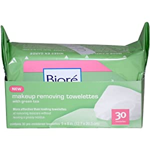 Make Up Removing Towelettes by Biore for Unisex, 30 Count