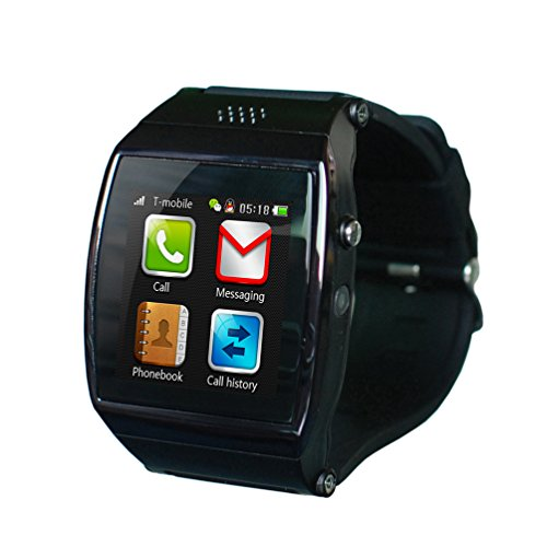 Black Gsm & Bluetooth Smart Watch Wristwatch Phone With Camera Touch Screen For Ios Iphone Android Smartphone Samsung Smartphone