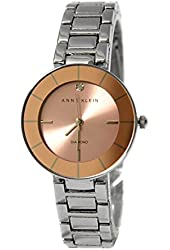 ANNE KLEIN Diamond Accent Silver Tone Bracelet Women's Watch