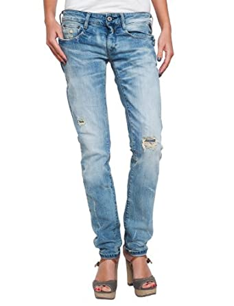 Replay Damen Jeans Niedriger Bund Radixes Skinny Fit WX640.000.419164, Gr. 25/34, Blau (blue denim)