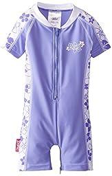 Baby Banz Baby Girls\' Banz One Piece Swim Suit, Lavender Floral, 6 12 Months
