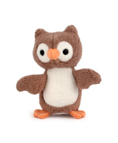 Apple Park Picnic Pal Finger Puppet, Owl front-799800