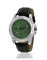 Yepme Eraze Mens Watch - Green/Black -- YPMWATCH2158