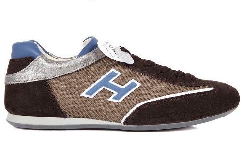 Hogan scarpe sneakers uomo in camoscio olympia