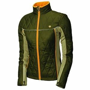 Pearl iZUMi Women's Insula Tour Jacket,Dark Olive/Desert Sand,X-Large