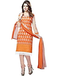 Readymade Minu Suits Cotton Stitched Dress Material New Orange