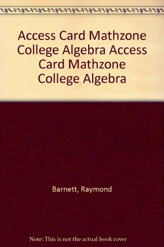 Access Card MathZone College Algebra