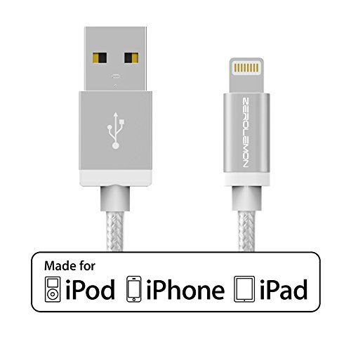 [Apple MFi Certified] ZeroLemon Lightning to USB Plastic PVC Cable 6.4
