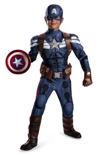 Disguise Marvel Captain America The Winter Soldier Movie 2 Captain America Prestige Boys Costume, Small (4-6)