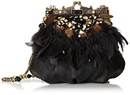 Mary Frances Ruffled Feathers Clutch, Multi, One Size
